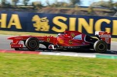 MUGELLO-STROMKREIS, ITALIEN - OKT: Kimi Raikkonen, von Scuderia Ferrari F1 lizenzfreies stockbild