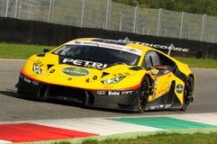 Mugello-Stromkreis, Italien - 6. Oktober 2017: Lamborghini Huracan von Petri Corse Motorsport Team gefahren durch Baruch Bar - Ma Lizenzfreie Stockbilder