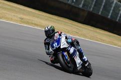 MUGELLO-Stromkreis - 13. Juli: Ben Spies Yamaha, der an qualifizierender Sitzung von MotoGP Grandprix von Italien, am 13. Juli 20 Lizenzfreie Stockfotos