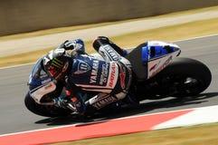 MUGELLO-Stromkreis - 13. Juli: Ben Spies Yamaha, der an qualifizierender Sitzung von MotoGP Grandprix von Italien, am 13. Juli 20 Lizenzfreies Stockbild