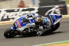 MUGELLO-Stromkreis - 13. Juli: Jorge Lorenzo von Yamaha-Team während der qualifizierenden Sitzung von MotoGP Grandprix von Italie Stockfotografie