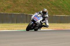 MUGELLO-Stromkreis - 13. Juli: Jorge Lorenzo von Yamaha-Team während der qualifizierenden Sitzung von MotoGP Grandprix von Italie Lizenzfreie Stockbilder