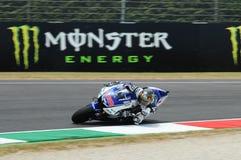 MUGELLO-Stromkreis - 13. Juli: Jorge Lorenzo von Yamaha-Team während der qualifizierenden Sitzung von MotoGP Grandprix von Italie Stockfoto