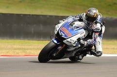 MUGELLO-Stromkreis - 13. Juli: Jorge Lorenzo von Yamaha-Team während der qualifizierenden Sitzung von MotoGP Grandprix von Italie Lizenzfreies Stockbild