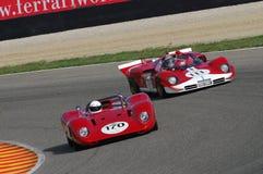 MUGELLO, a TI, em novembro de 2007, desconhecido correm com 1970 protótipo histórico Ferrari 512S no circuito de Mugello durante  Imagem de Stock