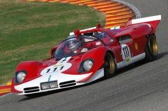MUGELLO, a TI, em novembro de 2007, desconhecido correm com 1970 protótipo histórico Ferrari 512S no circuito de Mugello durante  Fotografia de Stock Royalty Free