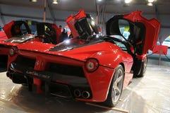 MUGELLO, a TI, em novembro de 2013: La Ferrari de Ferrari no circuito de Mugello em Italia durante Finali Mondiali Ferrari 2013 Fotos de Stock Royalty Free