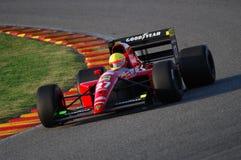 MUGELLO, a TI, em novembro de 2007: O desconhecido corre com Ferrari histórico 643 F1-91 1991 Alain Prost ex durante Finali Mondi Imagem de Stock