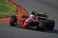 MUGELLO, a TI, em novembro de 2007: O desconhecido corre com Ferrari histórico 643 F1-91 1991 Alain Prost ex durante Finali Mondi Imagens de Stock Royalty Free