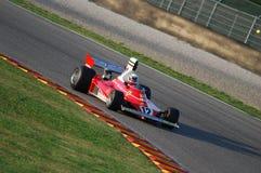 MUGELLO, a TI, em novembro de 2007: O desconhecido corre com Ferrari histórico F1 312T Niki Lauda ex durante Finali Mondiali Ferr Imagem de Stock