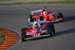 MUGELLO, a TI, em novembro de 2007: O desconhecido corre com Ferrari histórico F1 312T Niki Lauda ex durante Finali Mondiali Ferr Imagens de Stock