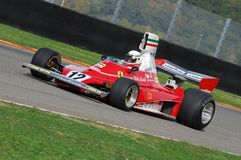 MUGELLO, a TI, em novembro de 2007: O desconhecido corre com Ferrari histórico F1 312T Niki Lauda ex durante Finali Mondiali Ferr Fotos de Stock Royalty Free
