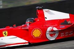 MUGELLO, a TI, em novembro de 2007: o desconhecido corre com Ferrari moderno F1 durante Finali Mondiali Ferrari 2007 no circuito  Imagens de Stock