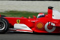 MUGELLO, a TI, em novembro de 2007: o desconhecido corre com Ferrari moderno F1 durante Finali Mondiali Ferrari 2007 no circuito  Foto de Stock Royalty Free