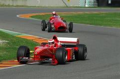 MUGELLO, a TI, em novembro de 2007: o desconhecido corre com Ferrari moderno F1 durante Finali Mondiali Ferrari 2007 no circuito  Fotografia de Stock Royalty Free