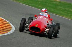 MUGELLO, a TI, em novembro de 2007: O desconhecido corre com os anos 50 históricos Ferrari F1 durante Finali Mondiali Ferrari 200 Foto de Stock Royalty Free