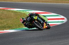 MUGELLO - WŁOCHY, CZERWIEC 3: Francja Yamaha techniki 3 jeździec Johann Zarco przy 2017 Oakley MotoGP GP Włochy fotografia stock