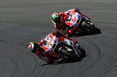 MUGELLO - WŁOCHY, CZERWIEC 3: Hiszpańszczyzny Ducati jeździec Jorge Lorenzo przy 2017 OAKLEY MotoGP GP Włochy obrazy stock