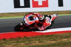 MUGELLO - WŁOCHY, CZERWIEC 3: Hiszpańszczyzny Ducati jeździec Jorge Lorenzo przy 2017 OAKLEY MotoGP GP Włochy obraz royalty free
