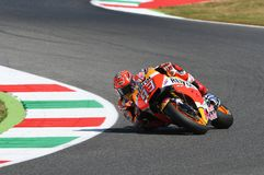 Mugello, WŁOCHY -, Czerwiec 2: Hiszpańszczyzny Honda jeździec Marc Marquez przy 2017 Oakley GP Włochy MotoGP fotografia stock