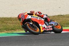 Mugello, WŁOCHY -, Czerwiec 2: Hiszpańszczyzny Honda jeździec Marc Marquez przy 2017 Oakley GP Włochy MotoGP zdjęcia stock