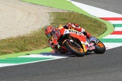 Mugello, WŁOCHY -, Czerwiec 2: Hiszpańszczyzny Honda jeździec Marc Marquez przy 2017 Oakley GP Włochy MotoGP fotografia royalty free