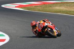 Mugello, WŁOCHY -, Czerwiec 2: Hiszpańszczyzny Honda jeździec Marc Marquez przy 2017 Oakley GP Włochy MotoGP zdjęcia royalty free