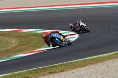Mugello, WŁOCHY -, Czerwiec 2: Hiszpańszczyzny Honda Marc VDS jeździec Tito Rabat podczas 2017 Oakley GP Włochy MotoGP przy Mugel Zdjęcia Stock