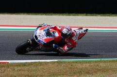 MUGELLO - WŁOCHY, CZERWIEC 3: Włoszczyzny Ducati jeźdza Andrea Dovizioso wygrana 2017 OAKLEY MotoGP GP Włochy na CZERWU 3, 2017 Zdjęcia Royalty Free
