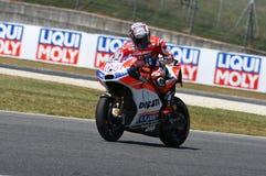 MUGELLO - WŁOCHY, CZERWIEC 3: Włoszczyzny Ducati jeźdza Andrea Dovizioso wygrana 2017 OAKLEY MotoGP GP Włochy na CZERWU 3, 2017 Zdjęcie Royalty Free