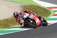 Mugello, WŁOCHY -, CZERWIEC 3: Włoszczyzny Ducati Pramac jeździec Danilo Petrucci przy 2017 OAKLEY GP Włochy Mugello zdjęcia royalty free
