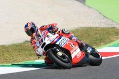 Mugello, WŁOCHY -, CZERWIEC 3: Włoszczyzny Ducati Pramac jeździec Danilo Petrucci przy 2017 OAKLEY GP Włochy Mugello zdjęcie stock