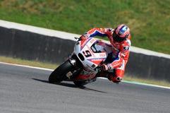 Mugello, WŁOCHY -, CZERWIEC 3: Włoszczyzny Ducati Pramac jeździec Danilo Petrucci przy 2017 OAKLEY GP Włochy Mugello zdjęcie royalty free