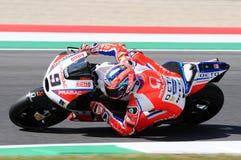 Mugello, WŁOCHY -, CZERWIEC 3: Włoszczyzny Ducati Pramac jeździec Danilo Petrucci przy 2017 OAKLEY GP Włochy Mugello obraz royalty free