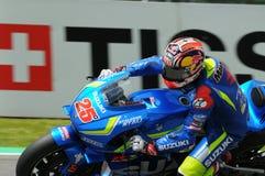 MUGELLO - WŁOCHY, MAJ 21: Hiszpańszczyzny Suzuki jeźdza indywidualista Vinales przy 2016 TIM MotoGP Włochy przy Mugello obwodem Zdjęcie Stock