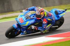 MUGELLO - WŁOCHY, MAJ 21: Hiszpańszczyzny Suzuki jeźdza indywidualista Vinales przy 2016 TIM MotoGP Włochy przy Mugello obwodem Obraz Stock