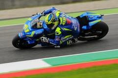 MUGELLO - WŁOCHY, MAJ 21: Hiszpańszczyzny Suzuki jeździec Aleix Espargaro przy 2016 TIM MotoGP Włochy przy Mugello obwodem Obrazy Royalty Free