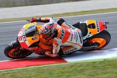 Mugello, Włochy -, Maj 29: jeźdzowie Marc Marquez podczas praktyki sesi przy 2014 TIM MotoGP GP Włochy na Maju 29, 2014 Zdjęcia Stock