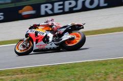 Mugello, Włochy -, Maj 29: jeźdzowie Marc Marquez podczas praktyki sesi przy 2014 TIM MotoGP GP Włochy na Maju 29, 2014 Zdjęcie Stock
