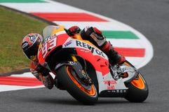 Mugello, Włochy -, Maj 29: jeźdzowie Marc Marquez podczas praktyki sesi przy 2014 TIM MotoGP GP Włochy na Maju 29, 2014 Obrazy Stock