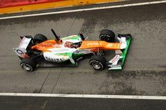 MUGELLO WŁOCHY, MAJ, - 2012: Jules Bianchi siły India F1 drużyny rasy podczas formuła jeden drużyn Bada dni przy Mugello obwodem  obraz royalty free
