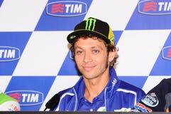 Mugello, Włochy -, Maj 29: Włoski jeździec Valentino Rossi podczas konferenci prasowej przy 2014 TIM MotoGP GP Włochy na Maju 29, Obrazy Stock