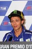 Mugello, Włochy -, Maj 29: Włoski jeździec Valentino Rossi podczas konferenci prasowej przy 2014 TIM MotoGP GP Włochy na Maju 29, Zdjęcia Royalty Free