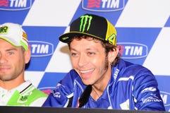 Mugello, Włochy -, Maj 29: Włoski jeździec Valentino Rossi podczas konferenci prasowej przy 2014 TIM MotoGP GP Włochy na Maju 29, Fotografia Royalty Free