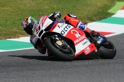 Mugello, WŁOCHY -, MAJ 21: Włoszczyzny Ducati jeździec Danilo Petrucci przy 2016 GP TIM Mugello MotoGP przy Mugello obwodem Zdjęcia Stock