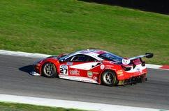 Mugellokring, Italië - 7 Oktober, 2017: Ferrari 488 van Scuderia-BAL door CHEEVER III Edward wordt gedreven - MALUCELLI Matteo di Stock Afbeelding