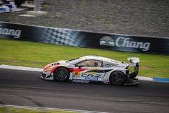 MUGEN CR-Z GT КОМАНДЫ MUGEN в гонках GT300 на Burirum, Таиланде Стоковое Изображение