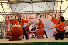 Mugenkyo taiko drummers Royalty Free Stock Images