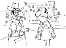 mugged разбойник прохожего Бесплатная Иллюстрация