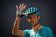 Muggiò, Italy May 26, 2016; Michele Scarponi, team Astana, to the podium signatures before the start of  the stage Stock Photography